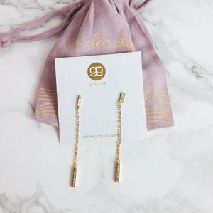 Gorjana Mave shimmer chain drop earrings